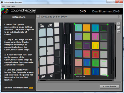 X-rite ColorChecker Passport creating a profile