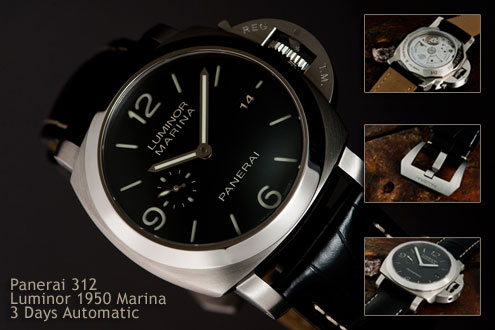 Panerai PAM312 Luminor 1950 Marina 3 Days Automatic