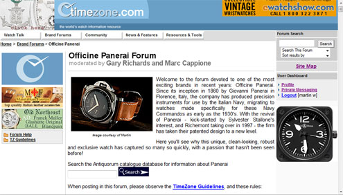 timezone panerai forum Fiddy photo