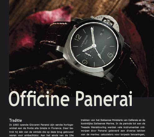 Panerai photos in Slaets Magazine