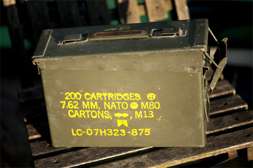 Greg Stevens ammo box for straps