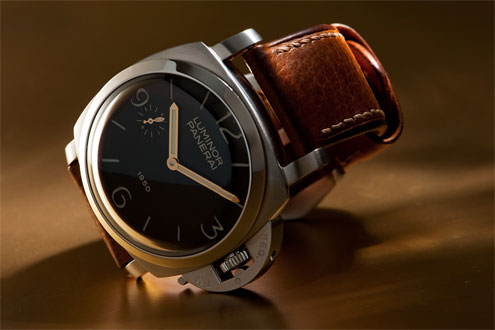 Panerai PAM127 Fiddy - on OEM cashmere strap