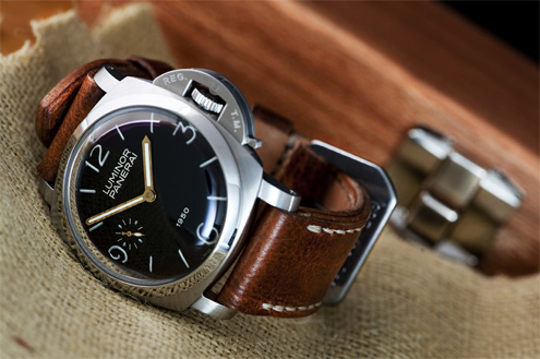 David Lane Design Yugoslavian ammo strap on Panerai PAM127
