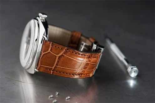 Kaktus straps - brown alligator strap on PAM249