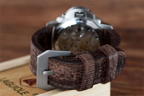 Chocolate brown strap by Julien Landa / landastraps