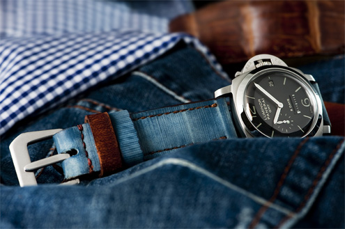 Stonewashed Blue jeans Special Edition on Panerai PAM233