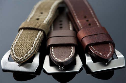 Vintager straps French Canvas, Clipper and Brindle