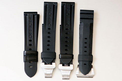 Panerai OEM rubber straps deployant and buckle