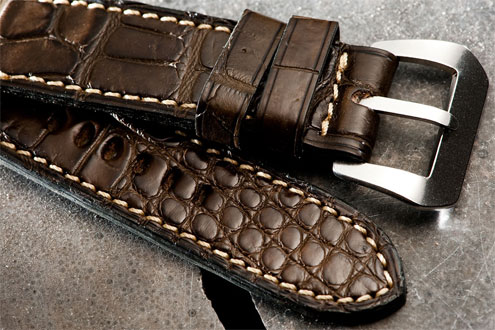 Simona di Stefano after market crocodile strap