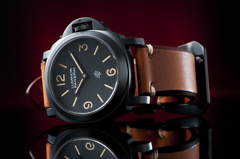Simona Saddle strap on a Panerai PAM360