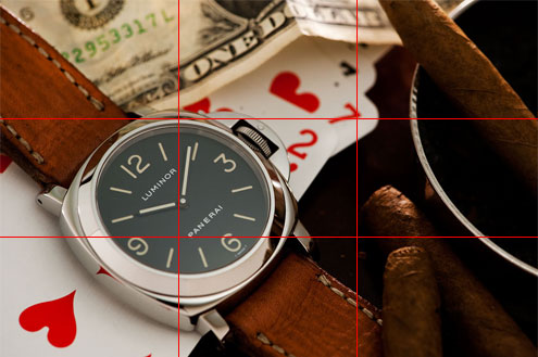 Panerai 2A rule of thirds example