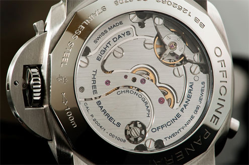 Panerai PAM275 Luminor 1950 Chrono Monopulsante case back