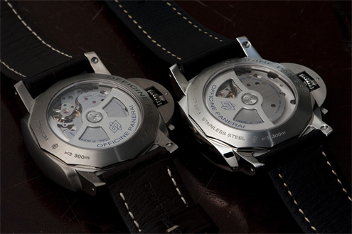 Panerai PAM351 and PAM359 case backs