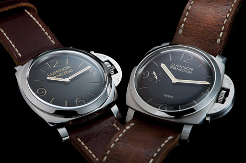 Panerai PAM372 next to the Fiddy PAM127