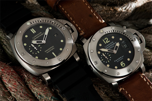 47mm PAM305 next to the 44mm PAM243 on the right