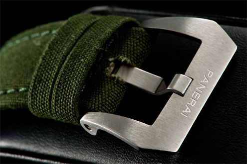 PAM300 green canvas strap and buckle