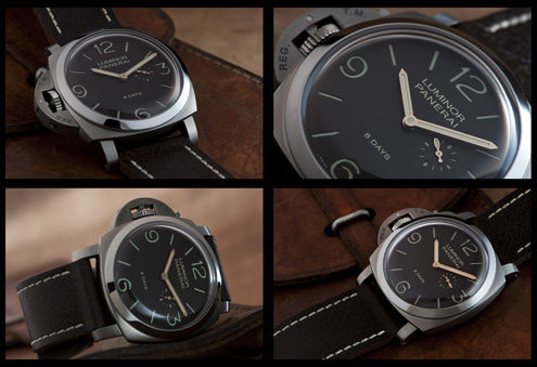PAM368 Luminor 1950 left-handed 8 Days Titanio 47mm