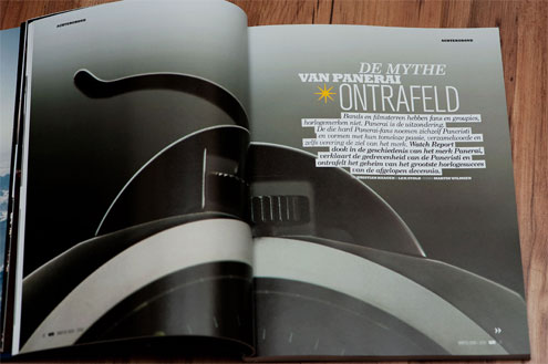 panerai article in watch report magazine