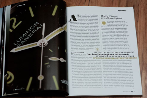 panerai article in watch report magazine PAM28