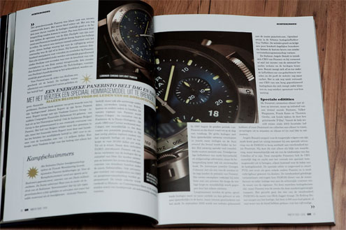 panerai article in watch report magazine PAM326